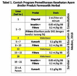 Program Kesehatan Ayam dengan Herbal